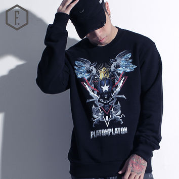 Print Long Sleeve Men's Fashion Winter Alphabet Hoodies [8822201539]