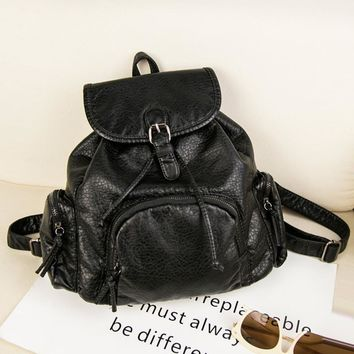 Casual Stylish Hot Deal College On Sale Back To School Comfort Rinsed Denim Korean Bags Backpack [6542304195]