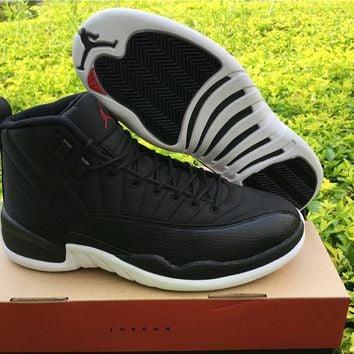 Air Jordan 12 Premium Wool Black Nylon Basketball Shoes