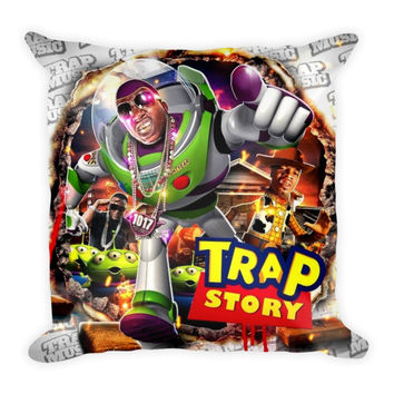 Trap Story (16x16) All Over Print/Dye Sublimation Gucci Mane Couch Throw Pillow Insert & Pillow Case/Cover