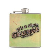 It's A Style GRUNGE Rusty Letters Hip Flask
