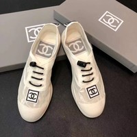 CHANEL Women lace fashion shoes