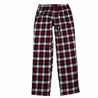 Trousers Women 100% Cotton Woven Flat Flannelette Cloth Thin Female Plaid Pajama Pants Women Lounge Sleep Bottoms
