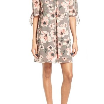 Soprano Jules Split Sleeve Shift Dress | Nordstrom