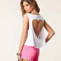 Back Heart Hollow Out Summer Tshirt Women Casual Tops Shirt Clothing Punk Crop Tops Plus Size