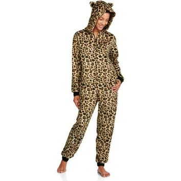Body Candy Juniors Huggable Fleece 3D Hooded One Piece PJ - Walmart.com