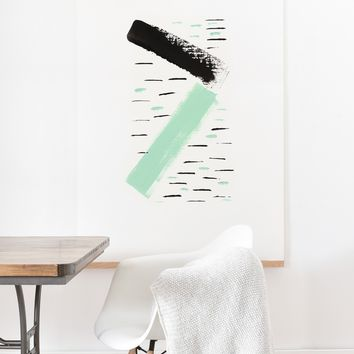 Viviana Gonzalez Minimal black and mint II Art Print And Hanger | Deny Designs
