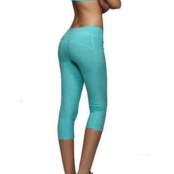 Women'S Yoga Pants Running Pants Tights Quick-Drying stretch Trousers Fitnness gym dance leggings Plus Size Yoga Sport capris