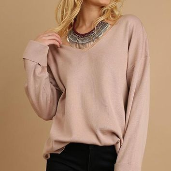 Donovan Pullover Sweater - Blush