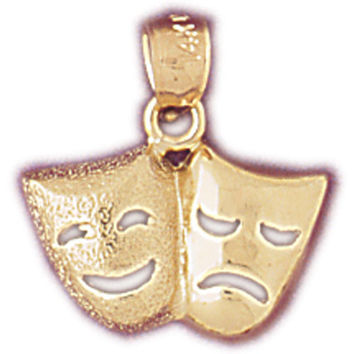 14K GOLD MISCELLANEOUS CHARM - DRAMA MASK #6092