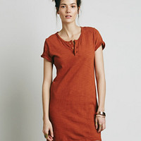 Free People x CP SHADES Womens Henley Dress