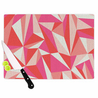 "MaJoBV ""Stitched Pieces"" Red Pink Cutting Board"