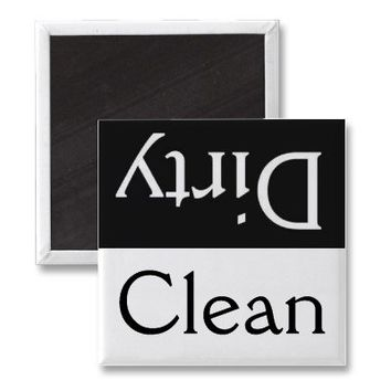 Dirty/Clean dishwasher magnet from Zazzle.com