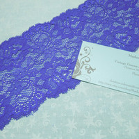 1 yard and 17 inches of 3 3/4 inch Purple Stretch elastic lace for bridal, baby headband, valentine, garter, hair by MarlenesAttic - Item G3