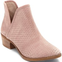 Lucky Brand Bashina Nubuck Leather Stacked Heel Booties | Dillards