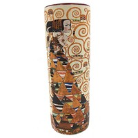 Klimt Woman Expectation Ceramic Flower Bud Small Vase 7H