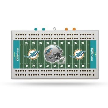 MIAMI DOLPHINS FIELD CRIBBAGE BOARD