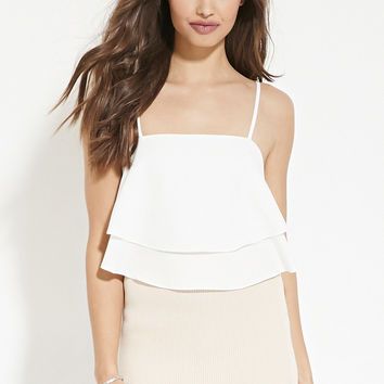 Flounced Cami Crop Top