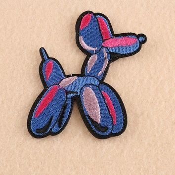 Embroidery Dog Balloon Sew On / Iron On Patch Badge Bag Hat Jeans Fabric Applique