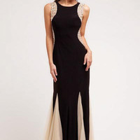 PRIMA 17-2253 Black Nude Jeweled Prom Dress