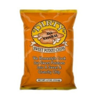 Dirty Sweet Potato Chips 2 oz Bags - Pack of 25