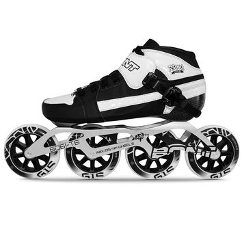 100% Original Bont Pursuit 2PT Professional Speed Inline Roller Skates for Kids Adult Heatmoldable Carbon Fiber Boot 4 Wheels