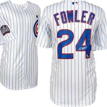 Dexter Fowler Signed Autographed Chicago Cubs Baseball Jersey (MLB Authenticated)