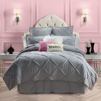 Juicy Couture Pinch Tuck Coverlet - King / Cal. King (Grey)