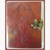 """""""Moon Goddess"""" Leather Latched  Journal"""