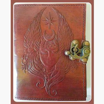"""Moon Goddess"" Leather Latched  Journal"