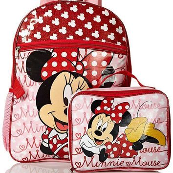 c7b724d976 Disney Girls  Minnie Mouse Backpack with Lunch Bag Set