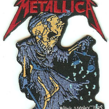 Metallica Iron-On Patch Skeleton Scales Logo