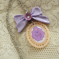 Adventure Time Necklace - LUMPY SPACE PRINCESS - Lsp Necklace