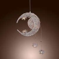 Hot Moon & Star Sweet Bedroom Lighting Pendant Lamp Chandelier Ceiling Light Fixture