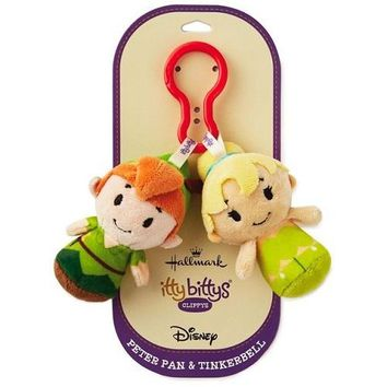 Disney Peter Pan and Tinker Bell itty bittys Clippys Stuffed Animals