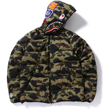 WIND STOPPER 1ST CAMO SHARK DOWN JACKET