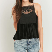 Pins & Needles Velvet Square Lace Cami - Urban Outfitters