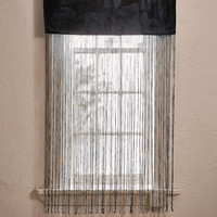 Arianna Velvet Fringe Window Panel | Urban Outfitters