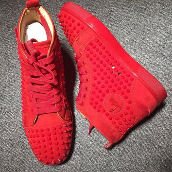 Cl Christian Louboutin Louis Spikes Style #1839 Sneakers Fashion Shoes