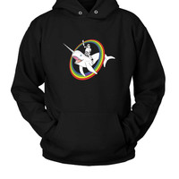Narwhal Rainbow Stormtrooper Hoodie Two Sided