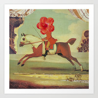 Equestrian Flower Art Print by David Birkey