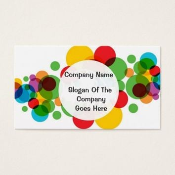 Colorful Circles Business Card