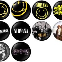 Nirvana Pinback Buttons Badges/Pin 1 Inch (25mm) Set of 10 New