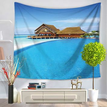 Island Beach Wall Hanging Bohemian Style Tapestry Indian Mandala Bedspread Home Room Ornament Accessories Ethnic Throw Rug Mat