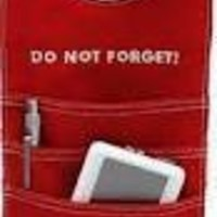 Do Not Forget - Door Orgainzer. Red