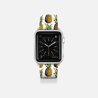 Tropical Pineapple Pattern Apple Watch Band (38mm) by Organic Saturation | Casetify