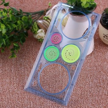 Random Color!! 1PC Spirograph Geometric Ruler Drafting Stencil Spiral Art Classic Toys Stationery Drawing Art Supplies