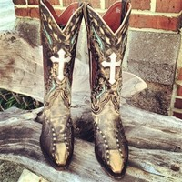 Ole' Rugged Cross Leather Boot