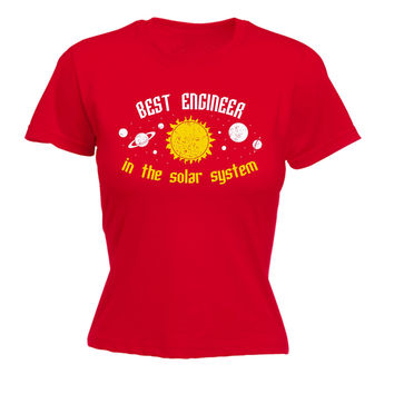 123t USA Women's Best Engineer In The Solar System Galaxy Design Funny T-Shirt
