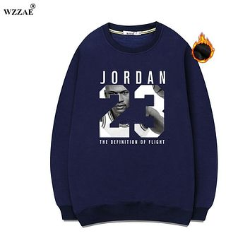 WZZAE 2017 New Arrival Harajuku Fleeces Men Winter Hoodies Letter Jordan 23 Printed Sweatshirts Hip Hop Men Hoodies SizeS-XXXL